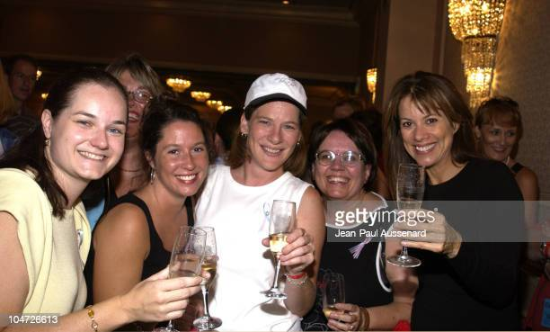 Nancy Lee Grahn toasting with fans during ABC's 'General Hospital' Fan Day at Sportsman's Lodge in Studio City California United States