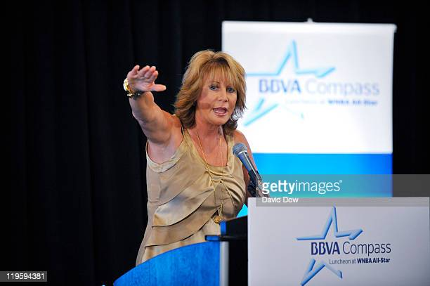 Nancy Liberman speaks during the BBVA Compass Luncheon as part of the 2011 WNBA Cares Community Caravan at The Terrance at ATT Center on July 22 2011...