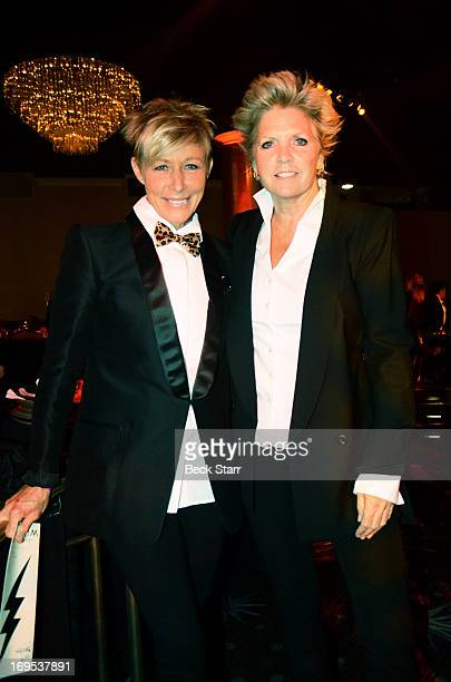 Nancy Locke and her partner actress Meredith Baxter attend the LA Gay Lesbian Center's 2013 An Evening With Women gala at The Beverly Hilton Hotel on...