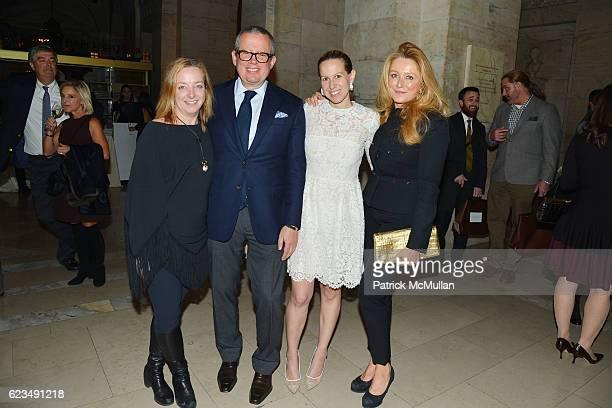 Nancy Lorenz Alex Papachristidis Samantha Rudin Earls and Caroline Berthet attend David Monn Launches The Art of Celebrating at New York Public...