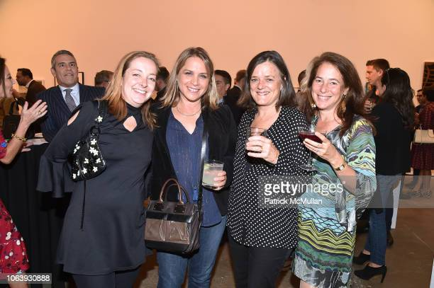 Nancy Lorenz Justine Leguizamo Andrea Chapin and Jennifer Adams attend Artists For Equality at Sean Kelly Gallery on October 22 2018 in New York City