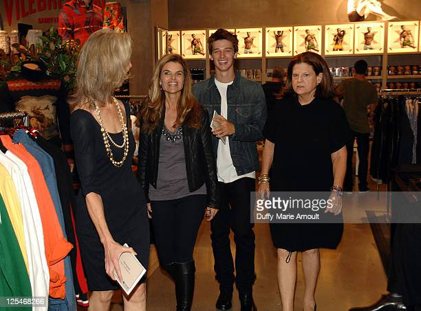Nancy Lueck Maria Shriver Patrick Schwarzenegger and Anne Keating attend the Think Purple Now Fundraiser with Project 360 and Threads for Thought to...