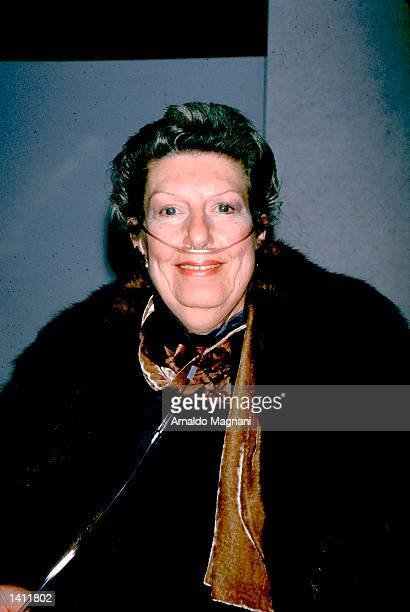 Nancy Marchand at the HBO screening of The Sopranos in New York city January 7 1999