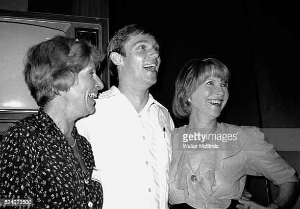 Nancy Marchand Richard Thomas and Julie Harris attend a Channel Thirteen party in New York City on 5/31/1981