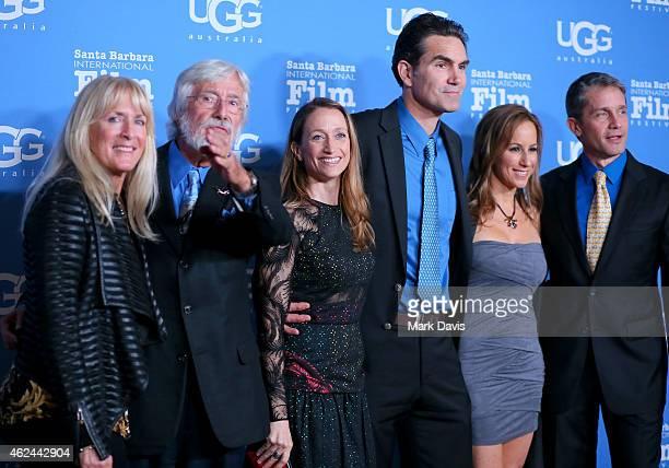 """Nancy Marr, director Jean-Michel Cousteau, Celine Cousteau, actor Capkin Van Alphen, Lisa Singer and Fabien Cousteau attend the """"Attenborough Award""""..."""