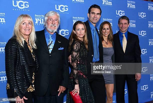 Nancy Marr director JeanMichel Cousteau Celine Cousteau actor Capkin Van Alphen Lisa Singer and Fabien Cousteau attend the Attenborough Award...