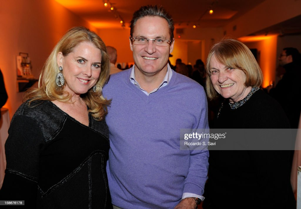 Nancy Mayer, John Speers and Helen Klanderud attend Angie Stewart, Carolyn Powers, Mona Look-Mazza And Richard Edwards host an exclusive celebration of the Fendi Resort 2013 Collection at Baldwin Gallery on December 22, 2012 in Aspen, Colorado.
