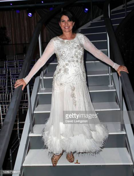 Nancy McKeon poses at Dancing with the Stars Season 27 at CBS Televison City on September 24 2018 in Los Angeles California