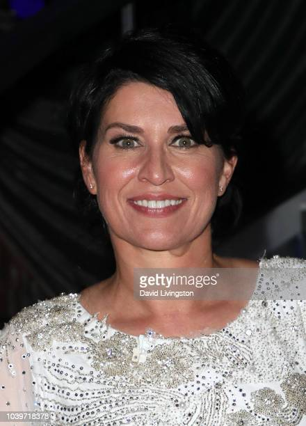 """Nancy McKeon poses at """"Dancing with the Stars"""" Season 27 at CBS Televison City on September 24, 2018 in Los Angeles, California."""