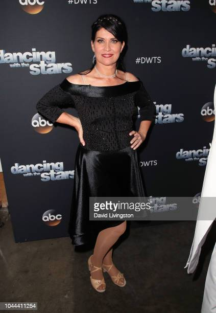 Nancy McKeon poses at 'Dancing with the Stars' Season 27 at CBS Televison City on October 1 2018 in Los Angeles California