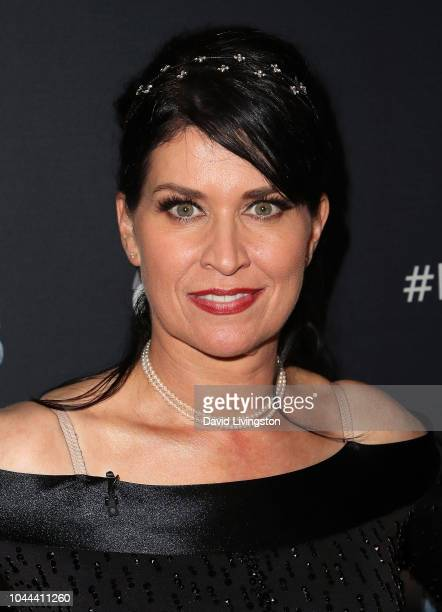 """Nancy McKeon poses at """"Dancing with the Stars"""" Season 27 at CBS Televison City on October 1, 2018 in Los Angeles, California."""