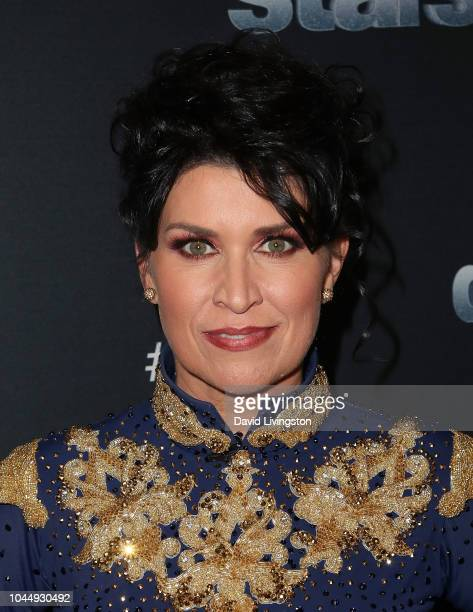 """Nancy McKeon poses at """"Dancing with the Stars"""" Season 27 at CBS Televison City on October 2, 2018 in Los Angeles, California."""