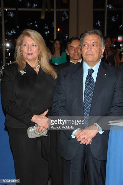 Nancy Mehta and Zubin Mehta attend A Night for India Benefit at Avery Fisher Hall NYC on January 11 2007