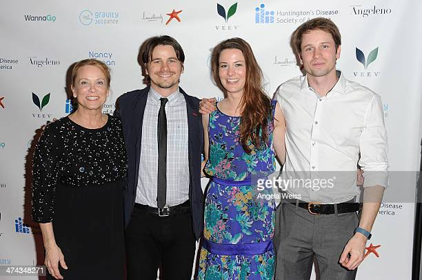 Nancy Morgan Jason Ritter Carly Ritter and Tyler Ritter arrive at the Huntington's Disease Society of America 2014 Freeze HD benefit at Mack Sennett...