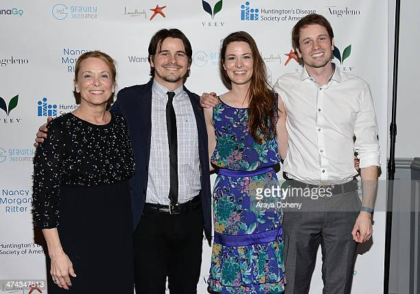 Nancy Morgan Jason Ritter Carly Ritter and Tyler Ritter attend the Huntington's Disease Society of America 2014 Freeze HD benefit at Mack Sennett...