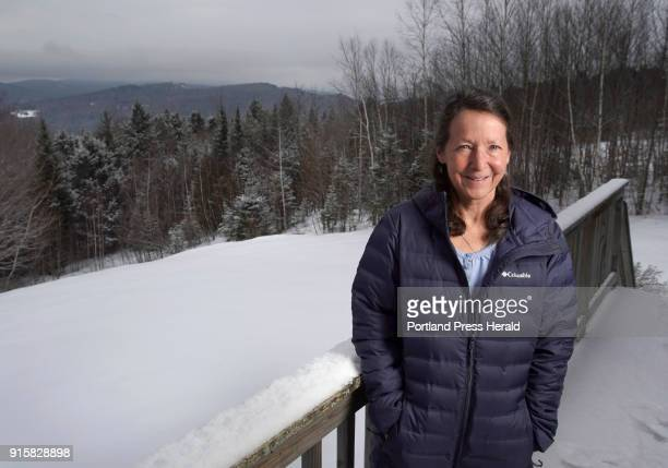 Nancy Murphy poses for a photo on the deck overlooking the backyard of the Murphy's home in Bethel on Thursday February 1 2018 Murphy's son Troy...