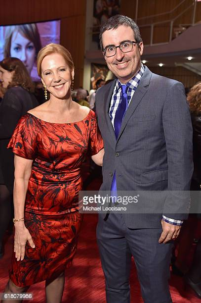 Nancy Northup and John Oliver attend The Center for Reproductive Rights 2016 Gala at the Jazz at Lincoln Center on October 25 2016 in New York City