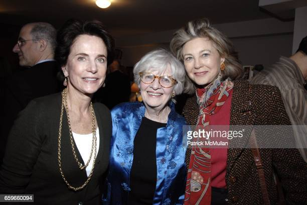 Nancy Novogrod Patricia Bosworth Maria Cooper Janis attend Patricia Bosworth and Joel Conarroe host party for BRAD GOOCH'S new book FLANNERY A LIFE...