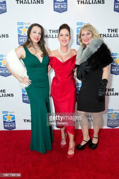 Nancy O'Brien and Heather Branch join Kira Reed Lorsch as they attend The Thalians Holiday Party with Kira Reed Lorsch as Chair at Bel Air Country...