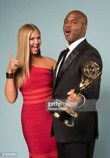 Nancy O'Dell and Kevin Frazier pose for portraits at The 44th Daytime Emmy Awards Portraits by The Artists Project Sponsored by Foster Grant on April...