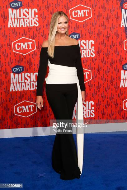 Nancy O'Dell attends the 2019 CMT Music Awards at the Bridgestone Arena in Nashville Tennessee