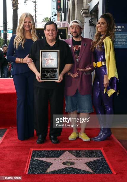 Nancy O'Dell Burt Ward Kevin Smith and Maria Menounos attend Burt Ward being honored with a Star on the Hollywood Walk of Fame on January 09 2020 in...