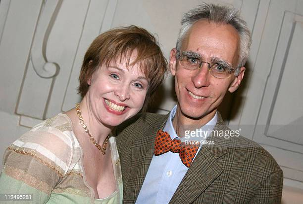 Nancy Opel and David Ives during Opening Night of Martin McDonagh's 'The Pillowman' on Broadway Curtain Call and After Party at Osteria Stella in New...