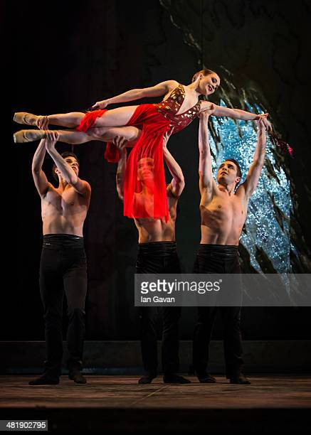 Nancy Osbaldeston perform on stage during a dress rehearsal of the English National Ballet's Lest We Forget at the Barbican Centre on April 1 2014 in...