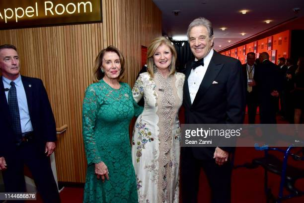 Nancy Pelosi Arianna Huffington and Paul Pelosi attend the Time 100 Gala 2019 at Jazz at Lincoln Center on April 23 2019 in New York City