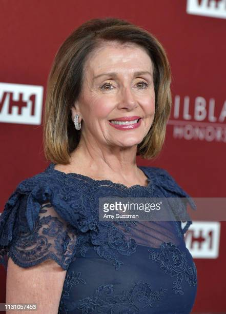 Nancy Pelosi attends VH1 Trailblazer Honors at The Wilshire Ebell Theatre on February 20 2019 in Los Angeles California