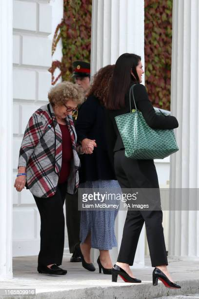 Nancy PenceFritsch mother of US Vice President Mike Pence leaving Aras an Uachtarain Dublin after he met Irish President Michael D Higgins and wife...