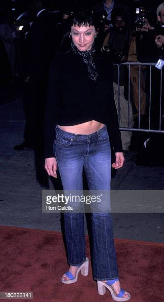 """Nancy Pimental attends the premiere of """"Enough"""" on May 21, 2002 at Loew's Lincoln Square Theater in New York City."""