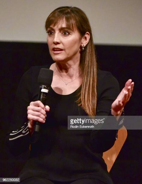 """Nancy Pimental speaks onstage at the Emmy For Your Consideration Event for Showtime's """"Shameless"""" at Linwood Dunn Theater on May 24, 2018 in Los..."""