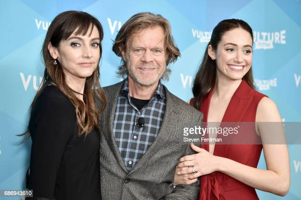 Nancy Pimental William H Macy and Emmy Rossum attend 'Shameless' panel during Vulture Festival at Milk Studios on May 21 2017 in New York City