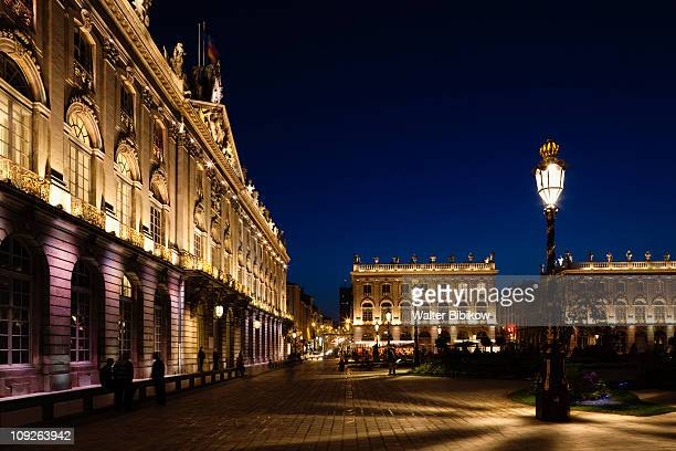 nancy, place stanislaus, evening - nancy stock pictures, royalty-free photos & images