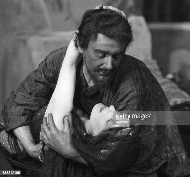 Nancy Price as Mary Magdelene along with C M Hallard as Barabbas in 'The Holy City' at the Comedy Theatre, London 5th May 1914.