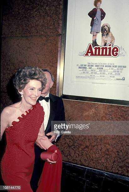Nancy Reagan and guest during 'Annie' New York Premiere May 17 1982 at Radio City Music Hall in New York City New York United States