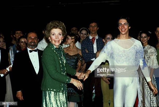 Nancy Reagan and Ron Reagan Jr attends the Joffrey Ballet in Lincoln Center circa 1981 in New York City