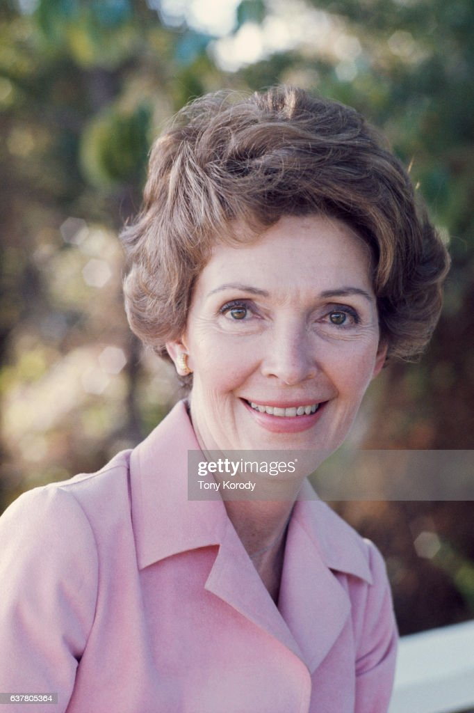 Nancy Reagan at her Pacific Palisades home following the defeat of her husband Ronald Reagan by Gerald Ford for the presidential nomination.