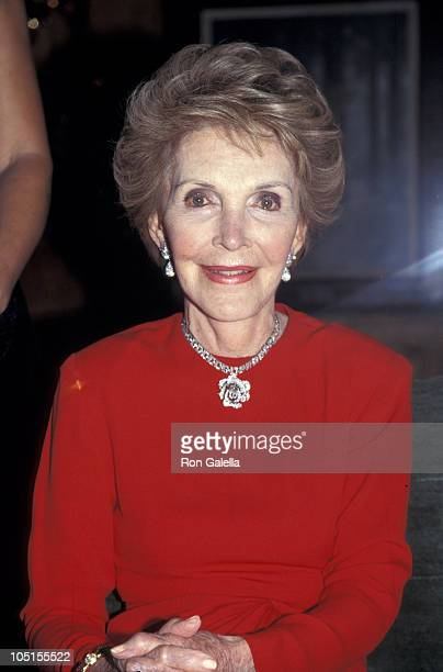 Nancy Reagan during Red White Blue Ball / Rita Hayworth Gala at Tavern on the Green in New York City New York United States