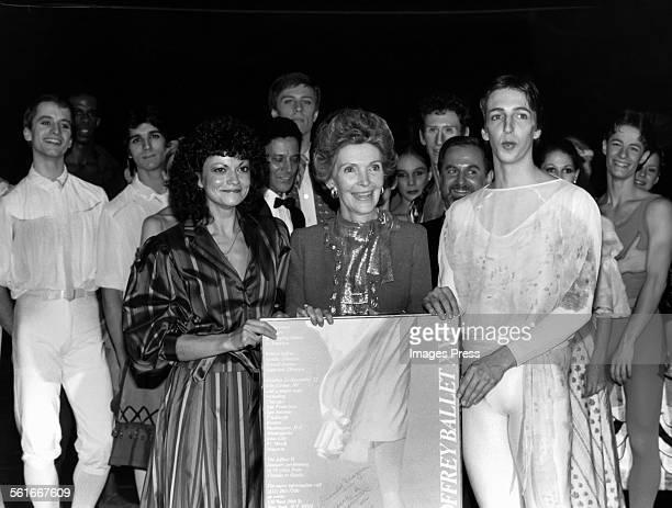 Nancy Reagan Ron Reagan Jr and his wife Doria Reagan attends the Joffrey Ballet in Lincoln Center circa 1981 in New York City
