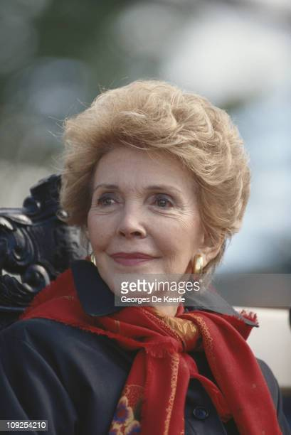 Nancy Reagan the wife of former US President Ronald Reagan in Warsaw Poland 16th September 1990