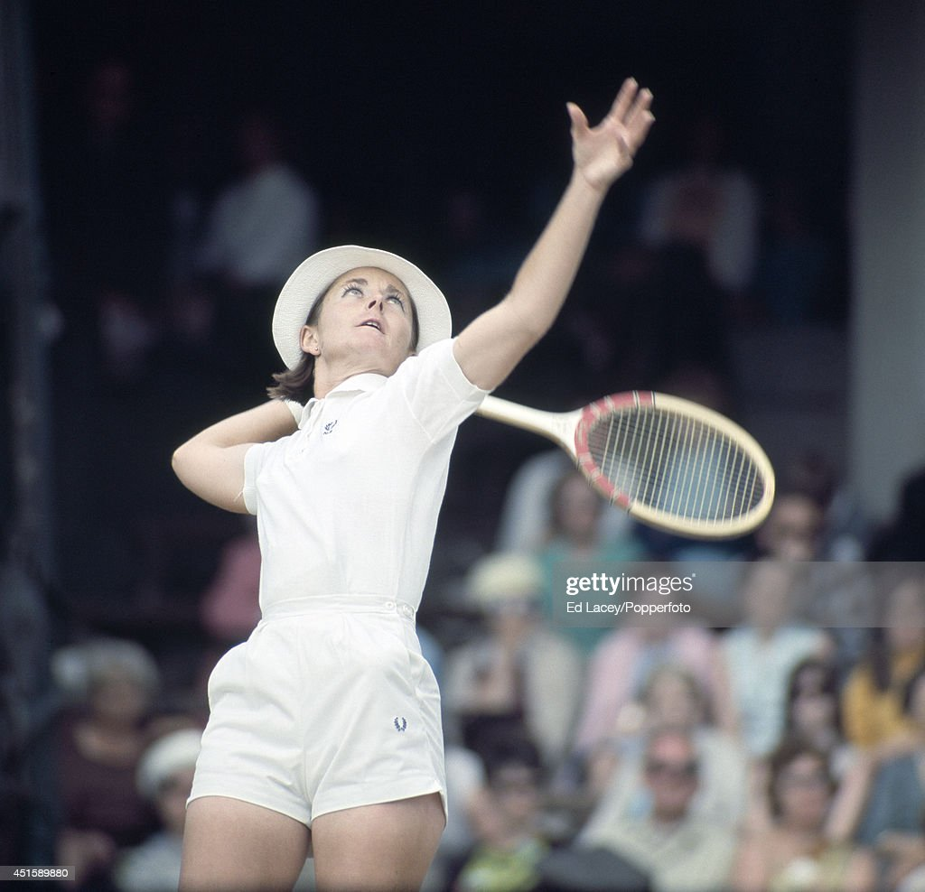 Nancy Richey of the United States in action at Wimbledon, circa July 1969. Richey, seeded 5th, lost in the Quarterfinals to Ann Haydon-Jones of Great Britain, the eventual winner.