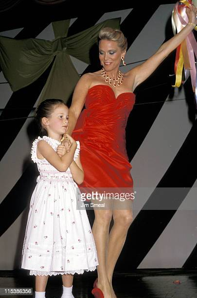 Nancy Ritter and daughter Carly during 1988 Mother Daughter Fashion Show at Beverly Hilton Hotel in Beverly Hills CA United States