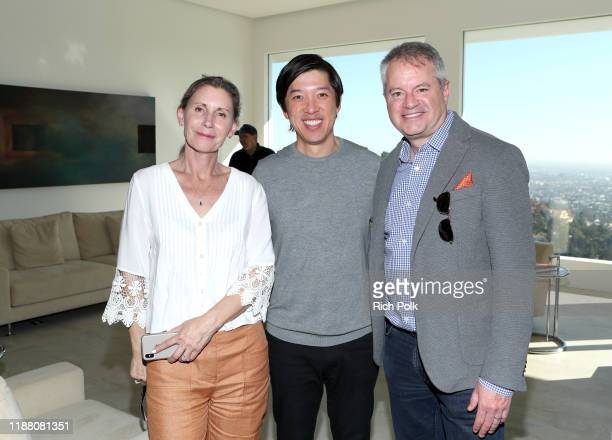 Nancy Ross Dan Lin and Chris Day attend Two Popes AMPAS Tastemaker at ROSS HOUSE on November 16 2019 in Los Angeles California