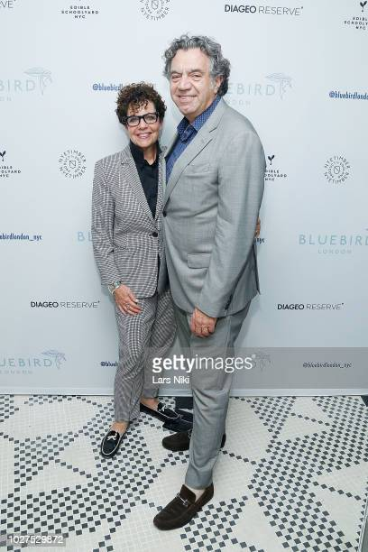 Nancy Ruddy and John Cetra attend the Bluebird London New York City launch party at Bluebird London on September 5 2018 in New York City