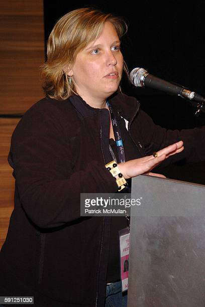 Nancy Schafer attends FONDAZIONE PRADA Hosts a Screening of GREAT NEW WONDERFUL with Director Danny Leiner for The Tribeca Film Festival at PRADA on...