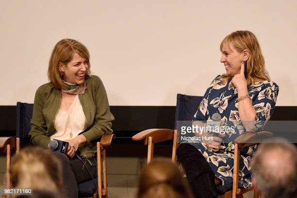 Nancy Schwartzman and Miranda Bailey speak onstage during Women Behind the Words at the 2018 Nantucket Film Festival Day 4 on June 23 2018 in...