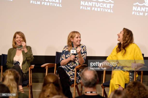 Nancy Schwartzman Miranda Bailey and Alysia Reiner attend Women Behind the Words at the 2018 Nantucket Film Festival Day 4 on June 23 2018 in...