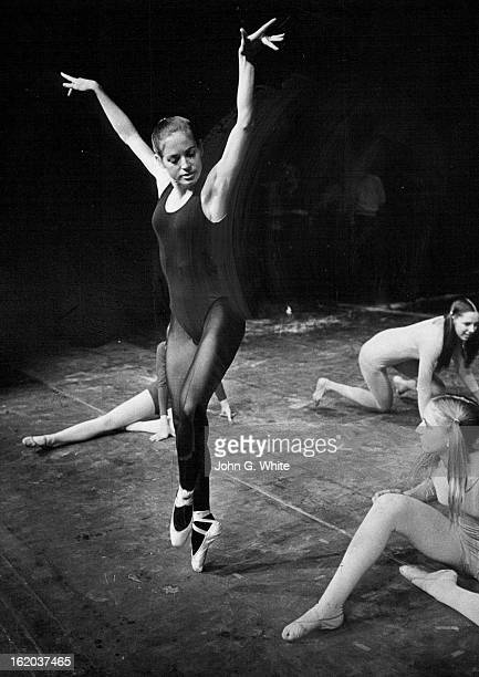 APR 1972 JUN 1 1972 JUN 7 1972 Nancy Shadwell dances the part of the wolves' prey in production of The Wolf set for Bonfils Theatre